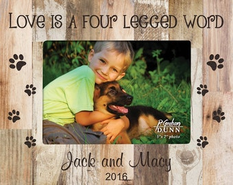 Personalized Pet Love Photo Frame - Engraved Pet Picture Frame - Pet Gift - Pet Portrait - Pet Lover Gits - Birthday Gift - Holiday Gift