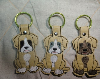 Boxer Key Fob in three colors