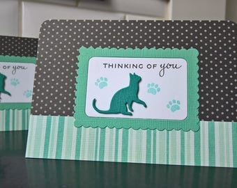 Cat Sympathy Card, Pet Loss Card, Cat Condolences Card, Kitty Lover Card, Pet Sympathy Card
