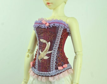 The Fish of Fortune BJD Art Line Corset for Fairyland Minifee MSD