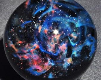 Galactic Nebula Glass Marble