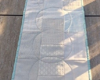 Quilted Modern table Runner, Live Laugh, Love
