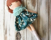 Ginger ~ SpunCandy Classic Doll, Heirloom Quality Doll, Modern Rag Doll, Nursery Decor, Kids Decor, Fabric Doll, Cloth Doll, Handmade Doll
