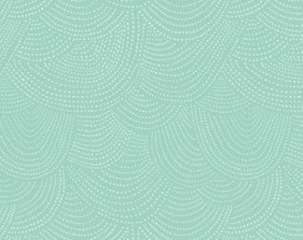 Chroma Basics Scallop Dot in Opal, Rae Ritchie, Dear Stella Fabrics, 100% Cotton Fabric, Stella-SRR512 Opal