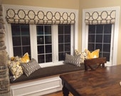 Reserved for Tara - Scalloped Valance and Custom Window seat