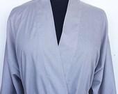 Cotton Blend Kimono In Color Light Grey