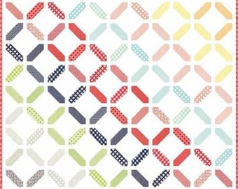 """SALE, Confetti + 1 by Cotton Way, 1001, 2 patterns in 1; New; 62""""x62"""", Layer Cake Friendly"""