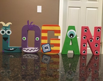 Monsters Inc Custom Name Letters - price is per letter
