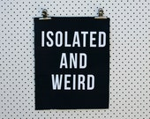 Isolated and Weird Back Patch screen printed black canvas
