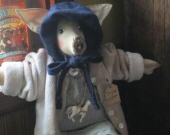 AMISH~ PIG DOLL~ Pig~ Pig Collector~ Handmade Gift~ Farmhouse Decor~ Barn Yard~ Amish Doll~