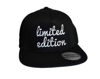 Limited edition retro snapback cap, retro look cap, baseball cap, embroidered cap, embroidered limited edition cap