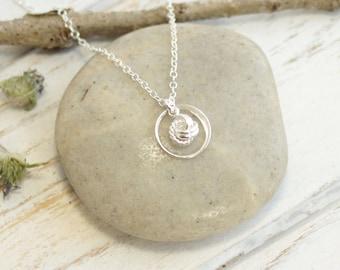Tiny Sterling Silver Eternity Love Knot Necklace