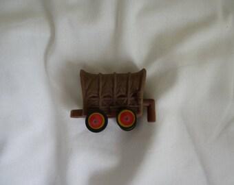 Vintage novelty eraser wild west wagon