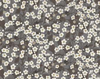 "Liberty Tana Lawn fabric MITSI - 17"" wide x 13"" (43cm x 33cm) - dark grey"