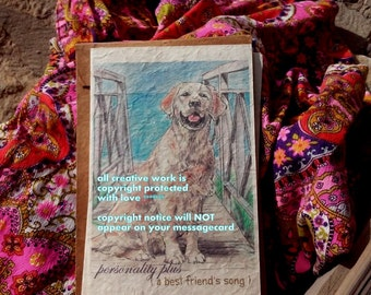 personality plus  / golden retriever/ love my retriever/ rescue/foster/storybook/ personalize/unique empathy condolence/pet sympathy/pet car
