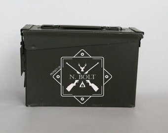 Ammo Box, Man gift, Christmas ammo can