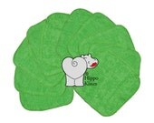 Baby Washcloths Dark Green, Cloth Wipes, Reusable Wipes, 10 Pack
