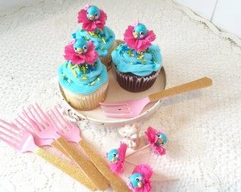 Bluebird Cupcake Toppers