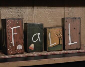 Seasonal Primitive Word Blocks/Reversible Blocks/4 Sides