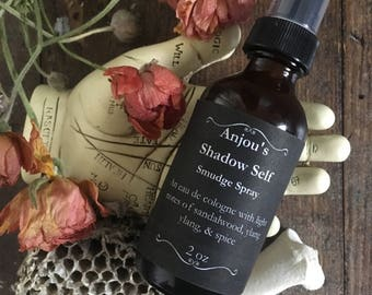 Shadow Self ~ Smudge Spray with Light Notes of Sandalwood, Jasmine, Ylang, & Spice ~ Skin or Room ~ Perfume Bohemian Gypsy Altar Smokeless
