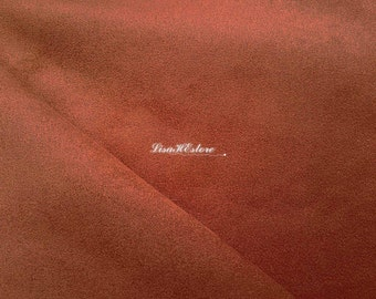 Dark orange, 1/2 yard, bigger wdith, faux suede fabric