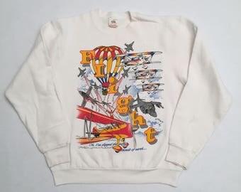 Vintage Flight Crew Neck Sweatshirt