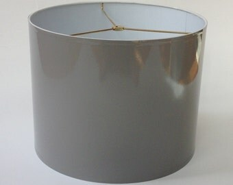 "High Gloss Gray Lamp Shade 14"" Diameter X 11"" Tall"