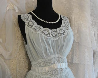 Vintage lace lingerie, blue flowy romantic, french chic, mori girl