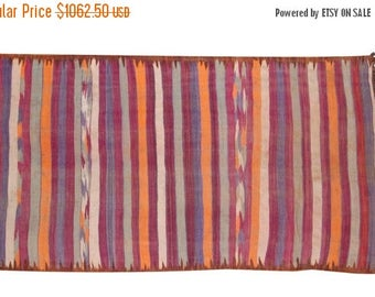 10% OFF RUG SALE Discounted 5.5x9.5 Vintage Moroccan Kilim Carpet