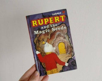 Rupert the Bear notebook handmade from a Ladybird Book
