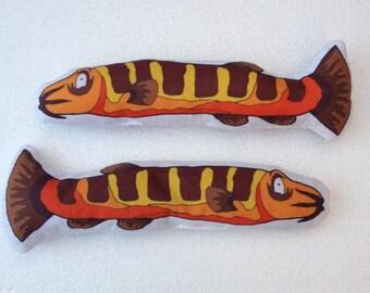 Fidgety Khuli Loach fish weighted fidget toy mylar crackle or beanbag original artwork