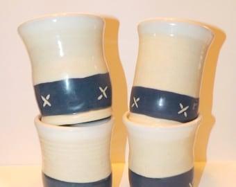 Set of 4 Navy Tumblers