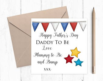 Dad to Be Card, Father's Day Card, father's day card, daddy card, dad card, from the bump card, ideal for dad to be's, FREE UK P&P
