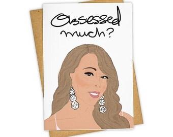 Obsessed . Greeting Card . Love .  Kraft Envelope