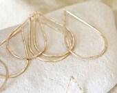 Tear Drops in 14 k Gold Filled Pendant | Earring Drops | Connectors