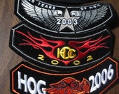 HARLEY DAVIDSON Patch Appliques Lot (4) Motorcycle Biker Hog Feather Wings Collection