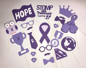 Pancreatic Cancer Awareness photo booth party props