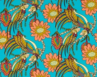 58100 - Kathy Doughty Flock Together Chatting birds in pretty color pwmo001-  1 yard