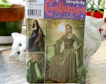 Simplicity 4940 Adult Historical/Medieval/Renaissance Costume sz 10-18 Uncut