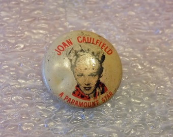 Joan Caulfield 1940s Collectible Quaker Cereal Pin