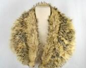 Vintage Real Coyote Fur Stole/Collar Fur Collars For Coats Vintage Fur Stoles and Wraps Vintage Fur Collar