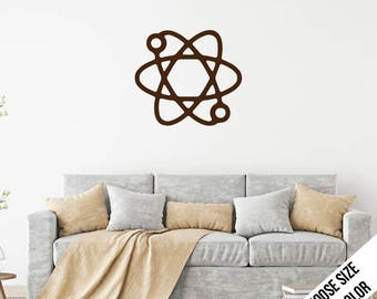 Atom Wall Decal  -Science, Chemistry, Physics, School, - Vinyl Sticker