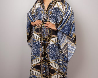 Kaftan, Boho dress, Kaftan dress, Loose fit dress, Maxi Dress : Funky Elegant Collection No.1p
