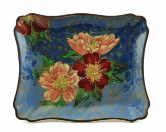 Vintage Royal Doulton Wild Rose Series Slice Tray Shape 7979 Hand Painted