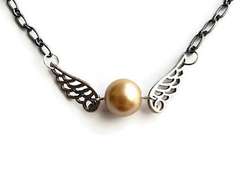 Winged Steampunk Necklace