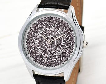 Mandala Watch | Feminine Women Watches | Ethnic Jewelry | Watches for Women | Anniversary Gifts for Girlfriend | Wife Gift | Free Shipping