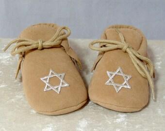 Jewish Baby Shoes - Tan