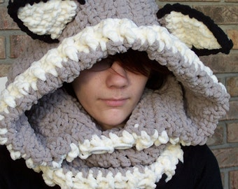 Super Bulky WOLF Hooded Cowl