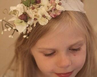 floral headband,tie back headband,toddler,little girl,adult hair accessories