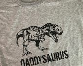 Daddysaurus or Grandpasaurus Personalized Unisex Shirt